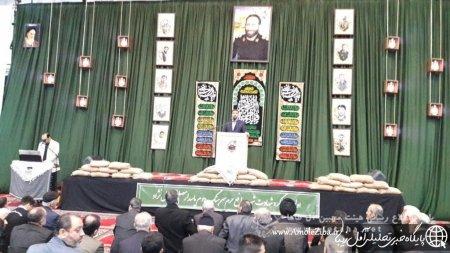 مراسم اولین سالگرد شهادت شهید عزیز حاج مصطفی زال نژاد